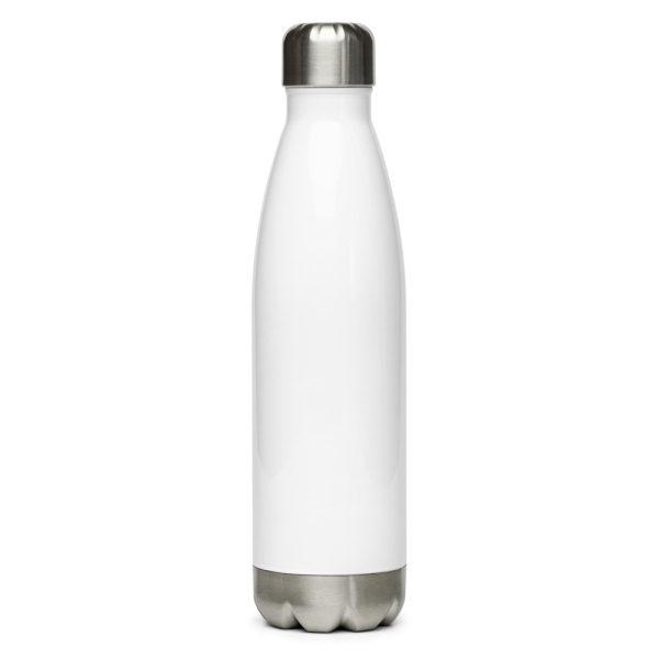 stainless steel water bottle white 17oz back 611ba63621b18