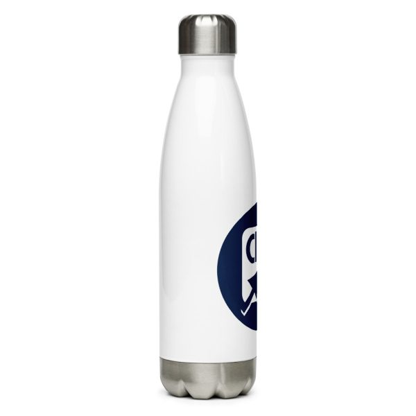 stainless steel water bottle white 17oz right 611ba63621a44
